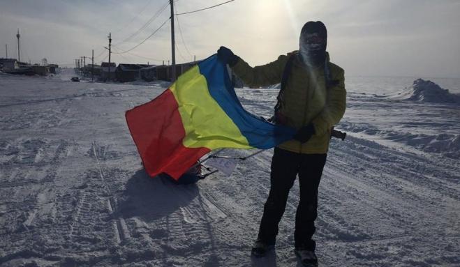 Românul Tibi Uşeriu a câştigat cel mai greu maraton din lume, dincolo de Cercul Polar, la -60 de grade